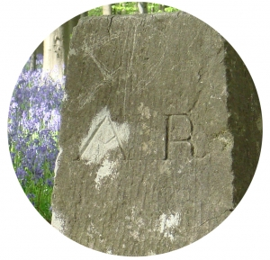 boundary stone with AR inscription